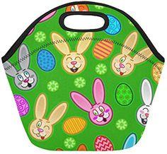 Easter Insulated Lunch Tote Bag Reusable Neoprene Cooler Portable Lunchbox Handbag For Men Women Adult Kids Boys Girls Insulated Lunch Tote, Lunch Tote Bag, Handbags For Men, Kids Boys, Boy Or Girl, Lunch Box, Easter, Girls, Women