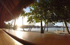 """Lever du soleil depuis votre suite plage au """"Bora Bora Pearl Beach Resort & Spa"""" www.etahititravel.pf © Merlen Photography"""
