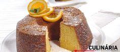 Receita de Bolo de laranja com sua calda. Descubra como cozinhar Bolo de laranja com sua calda de maneira prática e deliciosa com a Teleculinária!