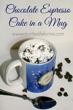Chocolate Espresso Cake in a Mug Recipe by A Turtle's Life for Me