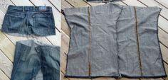 DIY transformer un jean en veste sans manche.