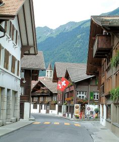 Brienz, Switzerland-walked down this street with Jess in a carrier on my back!