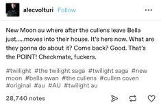 The Cullen, New Moon, Twilight Saga, Coven, Comebacks, Things To Come, The Originals