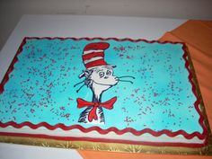 Dr. Seuss cake Dr Seuss Cake, Dr Suess, Birthday Cake Decorating, Cookie Decorating, Dr Seuss Birthday, Party World, 1st Birthday Parties, Birthday Cakes, Cake Images