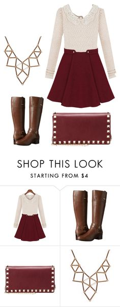 """""""Untitled #481"""" by wooleyphineas ❤ liked on Polyvore featuring Bandolino, Valentino and Chicnova Fashion"""