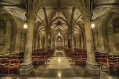 This is one of the underground chapels in the Washington National Cathedral.