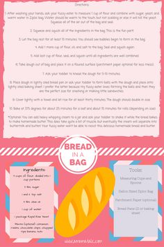 Toddler Bread in a Bag Recipe | Toddlers | Recipes | Cooking with Kids | Bread Recipes | Family | Parenting