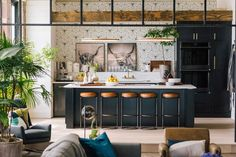 Tour the Queer Eye loft space in Kansas City outfitted exclusively by West Elm. Decor, Interior, Home, Kitchen Room, Kitchen Remodel, Loft Design, Home Kitchens, Kitchen Design, Trendy Home