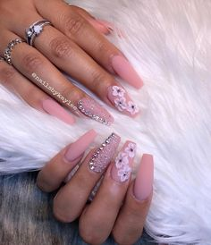 Matte & pixiegreat nails happen by appt pink nails in 2019 н Aycrlic Nails, Prom Nails, Hair And Nails, Manicure, Nails 2018, Bling Nails, Stiletto Nails, Coffin Nails, Nail Art Designs