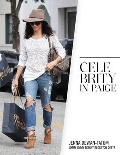 Jenna Dewan-Tatum in PAIGE Denim / Jimmy Jimmy Skinny in Clifton Destructed
