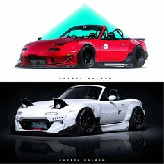 @the_kyza #khyzylsaleem #automotiveart | #TopMiata #mazda #miata #mx5 #eunos #roadster
