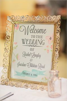 framed welcome sign