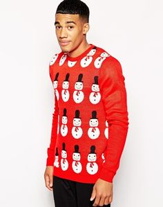 ASOS Christmas Jumper with Snowman Design