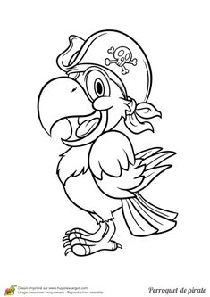 Home Decorating Style 2020 for Dessin Perroquet Pirate, you can see Dessin Perroquet Pirate and more pictures for Home Interior Designing 2020 at Coloriage Kids. Pirate Coloring Pages, Colouring Pages, Coloring Sheets, Coloring Books, Pirate Day, Pirate Birthday, Pirate Theme, Pirate Quilt, Pirate Parrot