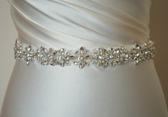 Crystal sash, Wedding dress belt, wedding belt by MagnificenceBridal