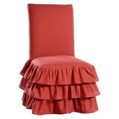 Ruffle 3 Tiered Dining Room Chair Slipcover Target