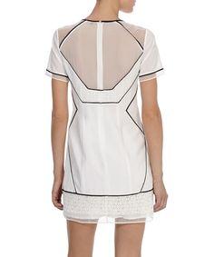 Karen Millen White graphic lace T-shirt dress, Designer Dresses Sale, Karen Millen , SECRETSALES