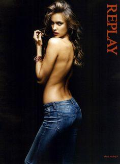 CANDY KISSES: Irina Shayk Replay Ad Campaign F/W 2011
