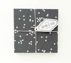 Grey Confetti Felt Coasters  Set of four  by cottonandflaxshop, $20.00