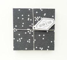 grey confetti wrap