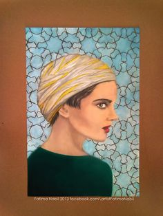 Oil painting by Fatima Nabil ..for more artworks visit : facebook.com/artistFatimaNabil  #art #by #me #artist #painting #paintings #draw #drawing #girl #woman #color #colors #love #portrait #arab #arabic #inspiration #oilpainting #oilpaintings #look #oil_painting #life