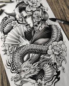 Dragon Tattoo Colour, Dragon Tattoo Drawing, Dragon Tattoo Designs, Tattoo Sleeve Designs, Tattoo Designs Men, Japanese Leg Tattoo, Japanese Dragon Tattoos, Japanese Tattoo Designs, Japanese Sleeve Tattoos