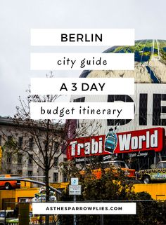 Berlin City Guide – Where History Meets Culture - - If you are looking for cool culture, city vibes and a huge dose of history, Germany's capital is the one for you. Read my Berlin City Guide before you go! Europe Travel Tips, New Travel, Travel Alone, European Travel, Travel Advice, Travel Guides, Places To Travel, Travel Destinations, Budget Travel