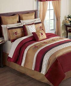 oversized king size bedding 126x120 | milano russett king bedding