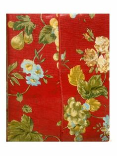 Red Floral Fruit Tablecloth Add color to your kitchen with this Waverly tablecloth done in red with fruit and wild flowers throughout the body. $16.95