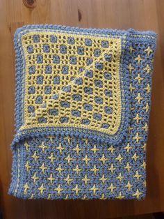Interlocking Crochet, squares/crosses (http://www.ravelry.com/projects/nutmeg00/squares-crosses)