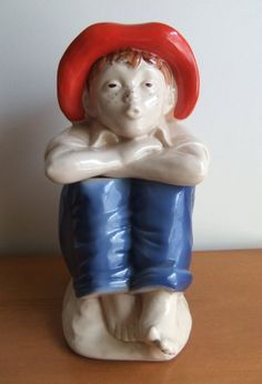 Vintage cookie jar Whistling Boy Barefoot Boy by SosemanKnox, $20.00