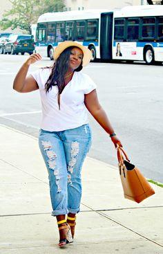 d4e46c9aff6b9 Distressed. Plus Size Boyfriend JeansBoyfriend Jeans OutfitLove JeansJeans  With HeelsJeans StyleCurvy ...
