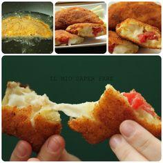 PANZEROTTI DI PATATE RIPIENI DI MOZZARELLA E POMODORO - Qui la #ricetta #BlogGz: http://blog.giallozafferano.it/loti64/panzerotti-di-patate-ripieni-di-mozzarella-e-pomodoro/ #GialloZafferano #fingerfoood #aperitivo #panzerotti