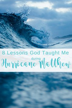 God brought our family through our first hurricane. Here is what we learned...