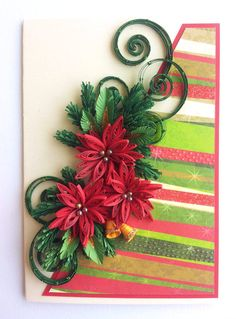 Handmade Luxury Quilling/Quilled Christmas Greeting Card