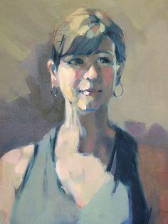Sitting Pretty by Trisha Adams Oil ~ 24 x 18