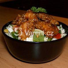Fotografie receptu: Salát s kuřecím masem a sezamem Meat, Chicken, Food, Essen, Meals, Yemek, Eten, Cubs