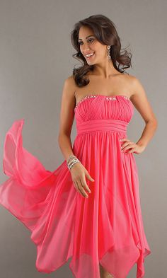 Coral Strapless Cheap Homecoming Dress Sale