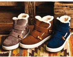 フワフワスニーカーで秋冬先取り。ブーツ(ダブルベルトスニーカーブーツ) / sneaker boots on ShopStyle
