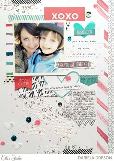 ~ you are loved ~ scrapbook layout by Daniela Dobson for Elle's Studio