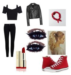 """""""greasers day"""" by mykela-knight ❤ liked on Polyvore featuring Yves Saint Laurent, American Eagle Outfitters and Converse"""