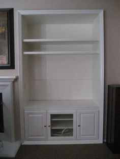 Built In Entertainment Center Designs Turn A Closet Into A Built - Built in cabinets entertainment center design pictures remodel