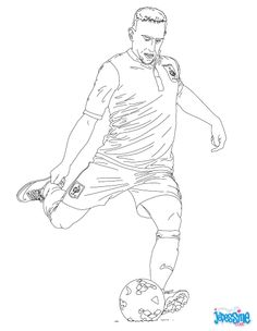 Franck Ribery coloring page. This lovely Franck Ribery coloring page is one of my favorite. Check out the SOCCER PLAYERS coloring pages to find out . Football Coloring Pages, Sports Coloring Pages, Coloring Pages To Print, Colouring Pages, Adult Coloring Pages, Coloring Books, Kids Colouring, Football Players Pictures, Soccer Players
