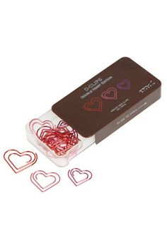 Heart Clipped a Beat Paperclips - $8.99
