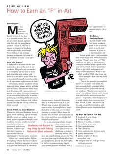 How to earn an F in art... awesome article on grading art.