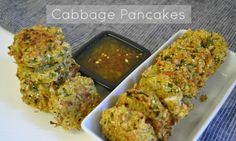 Bite sized cabbage pancakes that taste like a baked egg roll. Includes zucchini too, making it the perfect way to add summer squash to your plate.