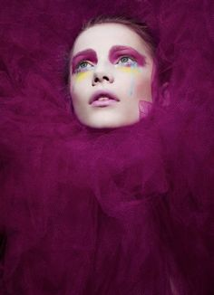 """Stunning beauty editorial """"The Cult of Color"""" featured in Deutsch Magazine, photographed by Darren Keith."""