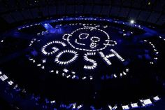 Artists perform during the opening ceremony of the London 2012 Summer Olympics on July 27, 2012.