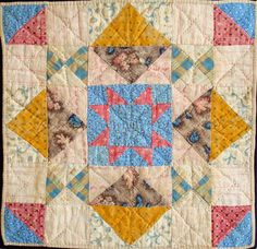 different components - do a nine patch in middle this is a doll quilt  Barbara Brackman blog