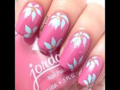 Floral Nail Tutorial #pinkmani #nailart - Go to bellashoot.com or #beautyapp for beauty inspiration!